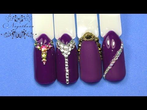 Красивый дизайн ногтей со стразами фото