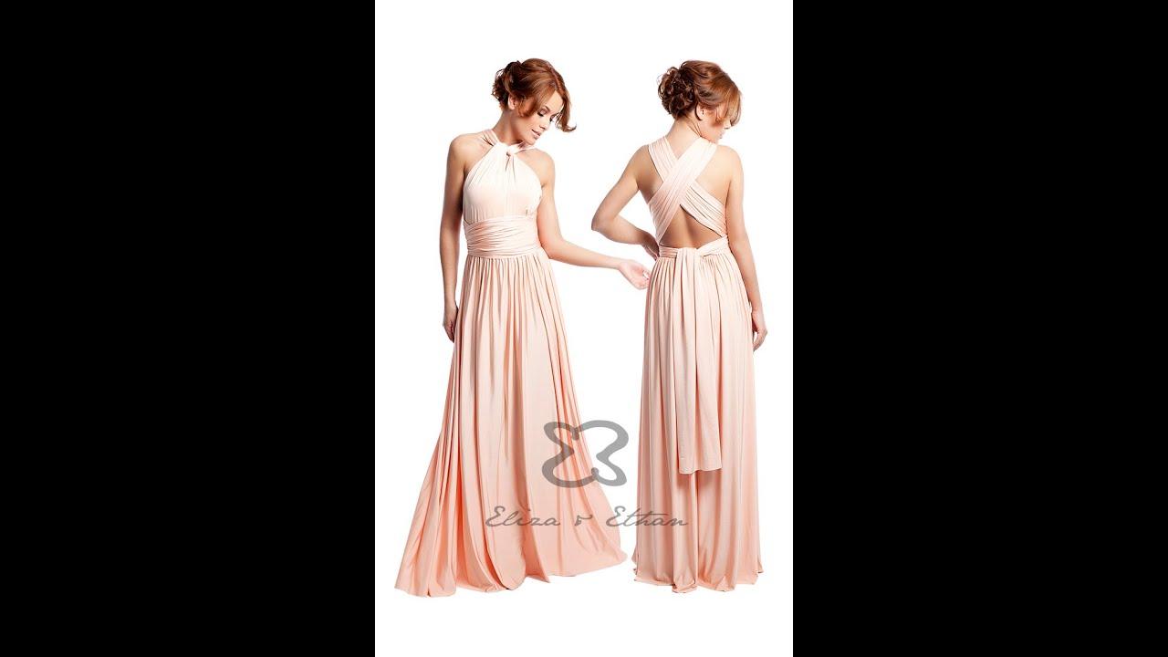 Eliza U0026 Ethan Multi-Wrap Dress Tutorial - Style 7 - YouTube