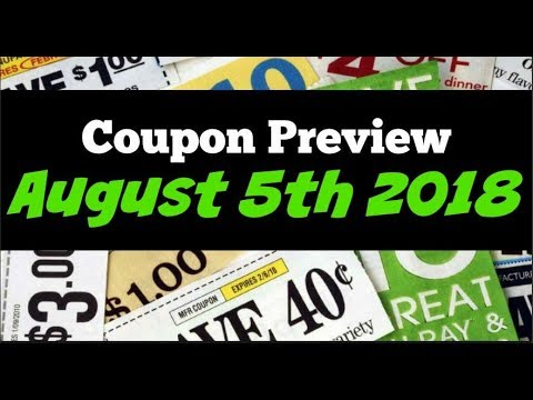 Coupon Insert Preview for Sunday August 5th 2018 4 Inserts