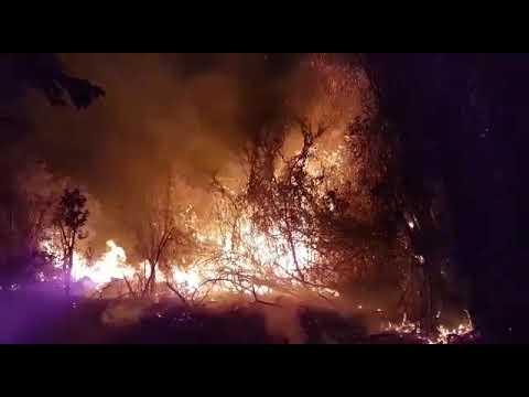 Incêndio Florestal na região de Ituaçu