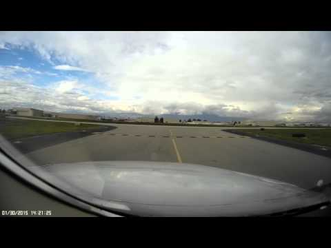 Landing @ Chino - Mobius Dash Cam in Twin Cessna 340