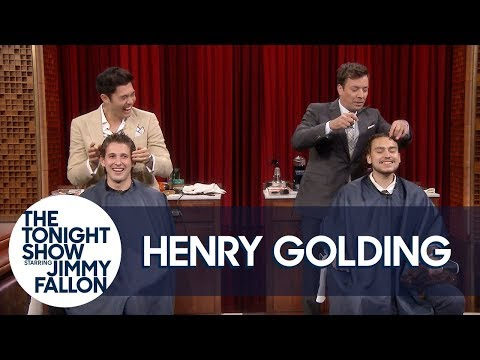 Henry Golding and Jimmy Fallon Give Haircuts to Random Audience Members