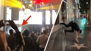 I DID THIS IN THE MIDDLE OF HOLLYWOOD! *Private Celebrity Event*