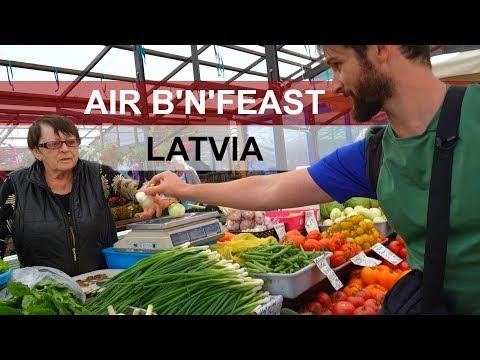 LATVIA: AIR B'N'FEAST EP.9 - MASSIVE markets in Riga!