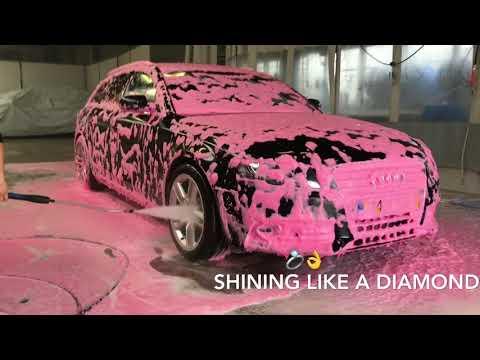 Pink Foam! ProNano Audi A4 Lady Carwash Treatment | Non contact car wash!