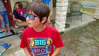 Jake sees full colors for first time thanks to colorblind glasses!