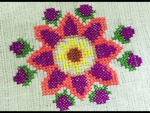 Cross stitch design for cushion cover