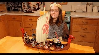 Building Lego Viking Ship Time-lapse (hd) 7018