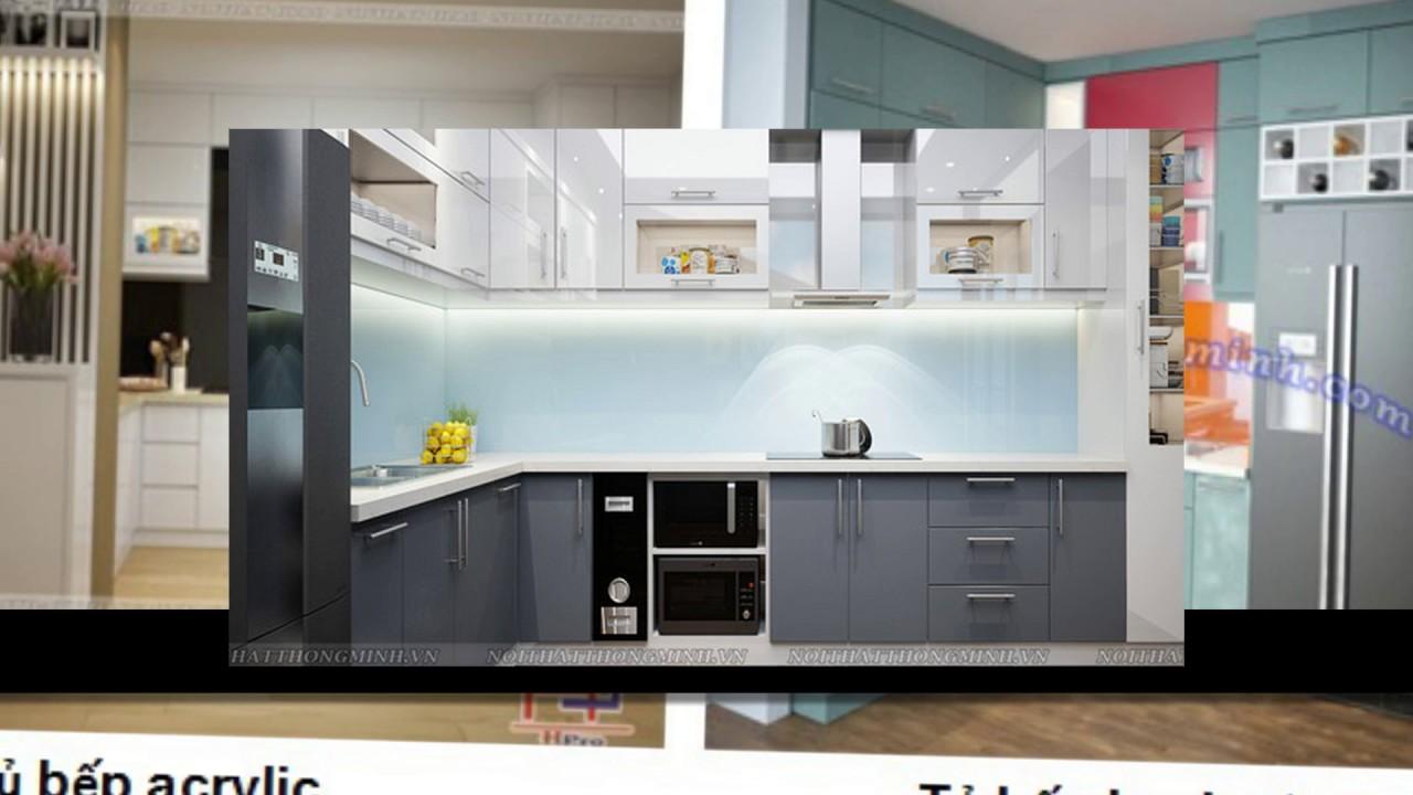 Nên làm tủ bếp acrylic hay tủ bếp laminate