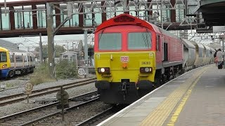 DBS Class 59 No 59203 at Stratford - Dagenham Dock ARC to Acton TC - 24th Oct 2014