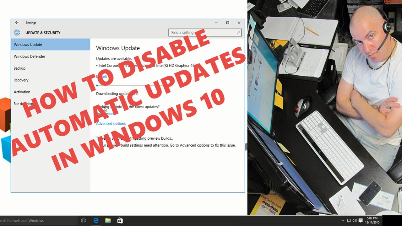 disable windows updates windows 10 home