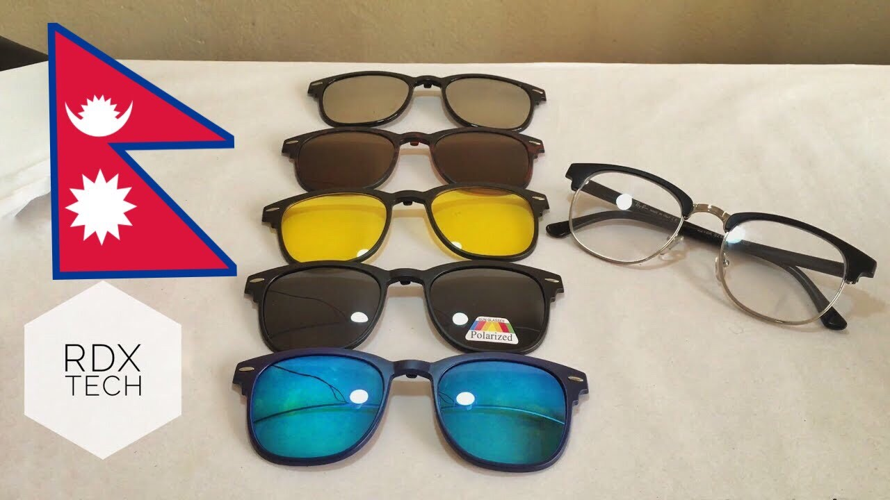 78ea5d0861 5 in 1 Magnetic (clip on) Sunglasses -REVIEW - YouTube