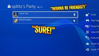 How to make FRIENDS on PS4! (START PLAYING GAMES TOGETHER)