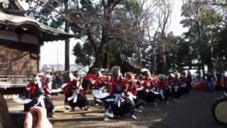 2010/12/26 篠原八幡神社 二子流東京鬼剣舞1