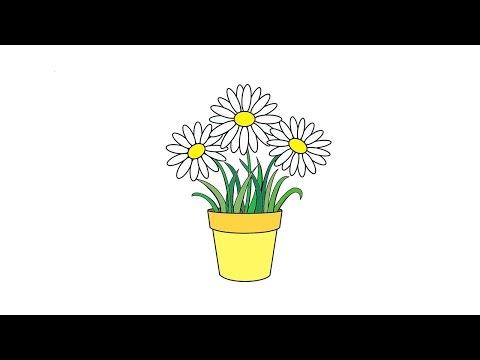 Как нарисовать цветы в горшке: инструкция от EvriKak