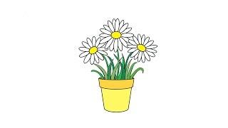 Как нарисовать цветы в горшке: инструкция от EvriKak(Предлагаем пошаговую инструкцию как рисовать вазон с цветами. Фото и текстовая инструкция у нас на сайте:..., 2016-03-28T14:47:12.000Z)