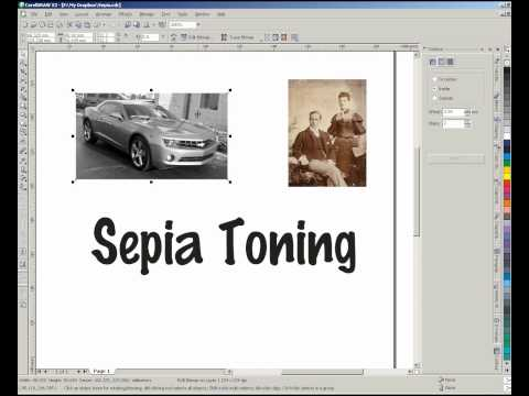 Sepia Toning a picture in CorelDraw from YouTube · Duration:  4 minutes 32 seconds