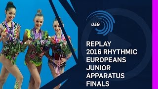 REPLAY: 2016 Rhythmic Europeans, junior apparatus finals - Holon (ISR)