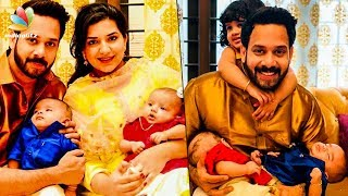 CUTE FAMILY: Actor Bharath's twin babies | Hot Tamil Cinema News