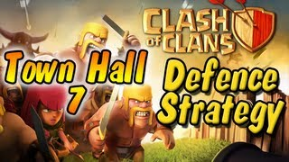 Clash of Clans - Defense Setup #2 for Town Hall Level 7 (80% of Buildings Inside)