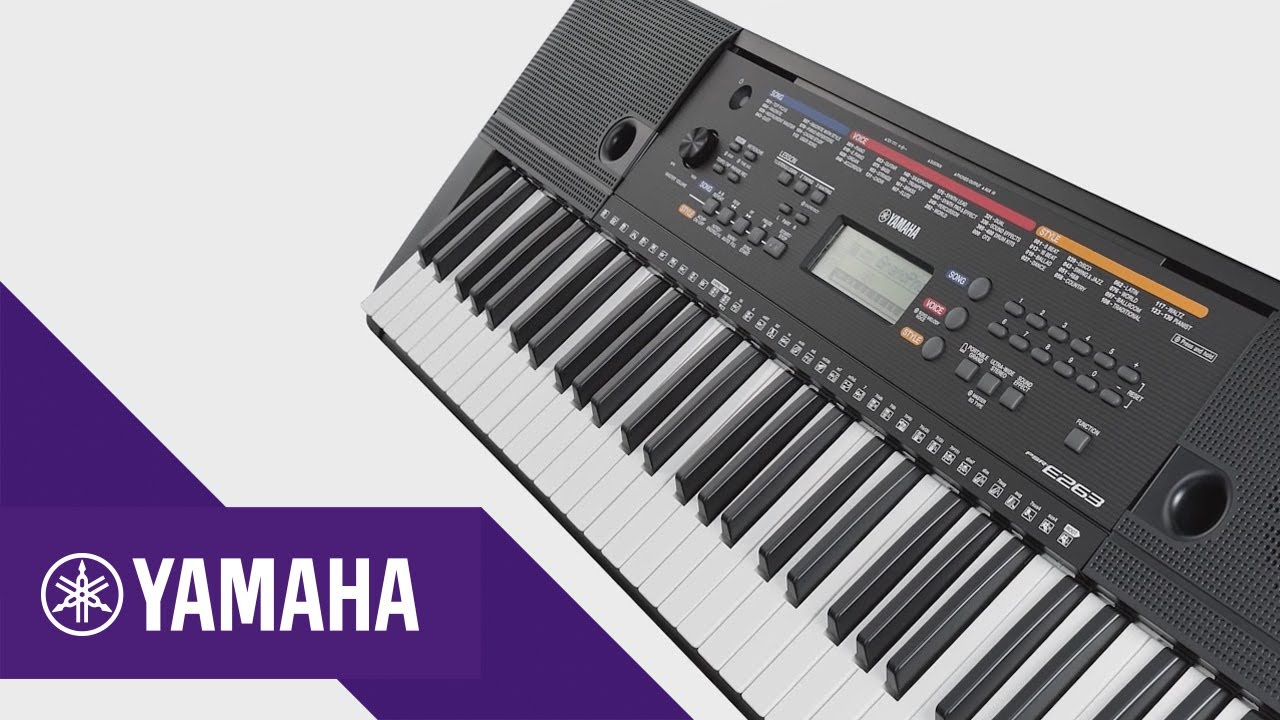 yamaha psr e263 caracter sticas principales keyboards. Black Bedroom Furniture Sets. Home Design Ideas