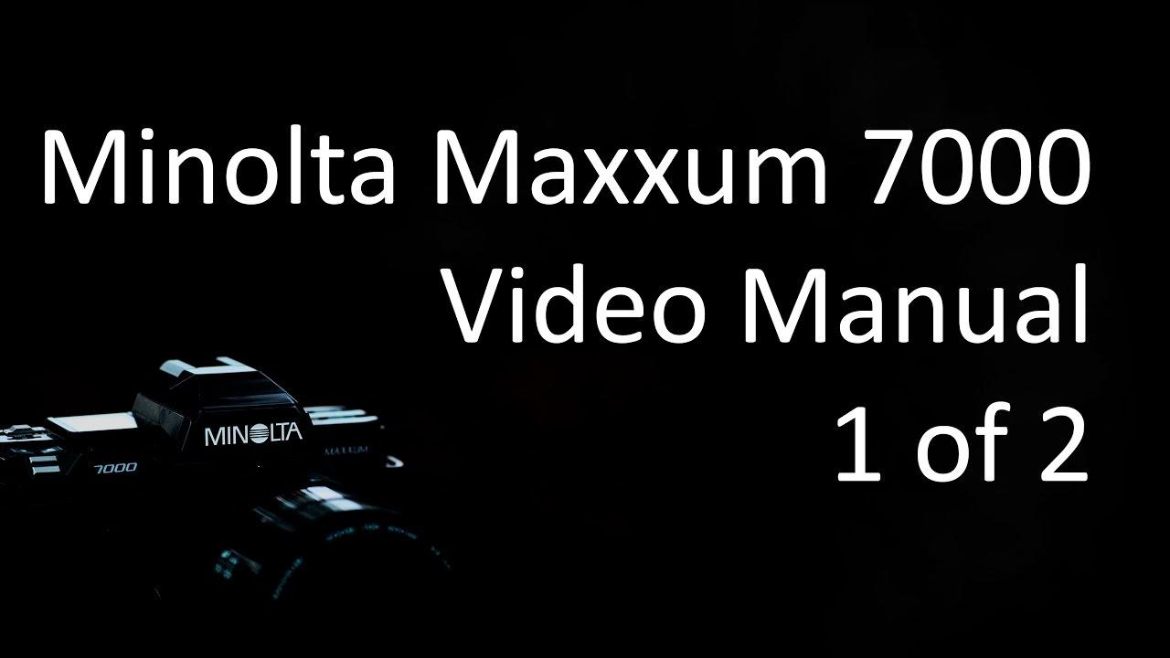 Manual minolta 7000 array minolta maxxum alpha dynax 7000 video manual 1 of 2 youtube rh youtube com fandeluxe Images