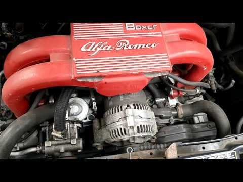 Alfa 145 1600 Boxer engine - start and idle.