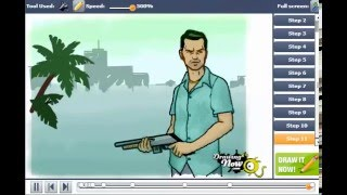 How to Draw Tommy Vercetti from Grand Theft Auto