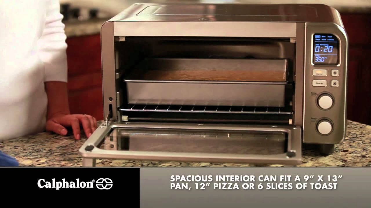 watch convection toaster stainless youtube calphalon steel xl digital oven