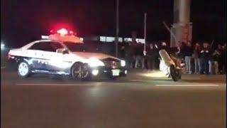 熊本東バイパス 3日連続で暴走 単車乗り捨て逃走 「暴走族vs警察」 thumbnail
