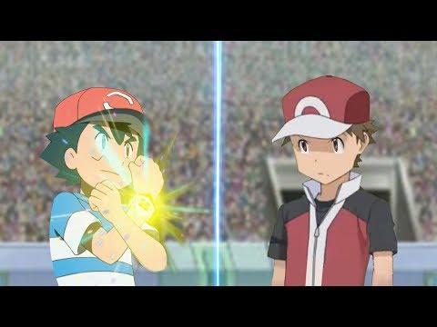 Pokemon Battle USUM: Ash Vs Red Origin (Pokemon Anime Vs Pokémon Origins)