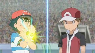 Pokemon Battle USUM: Ash Vs Red Origin (Pokemon Anime Vs Pokémon Origins)