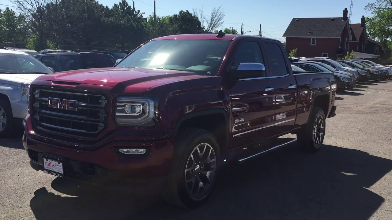 2016 gmc sierra 1500 slt all terrain double cab 4wd red. Black Bedroom Furniture Sets. Home Design Ideas