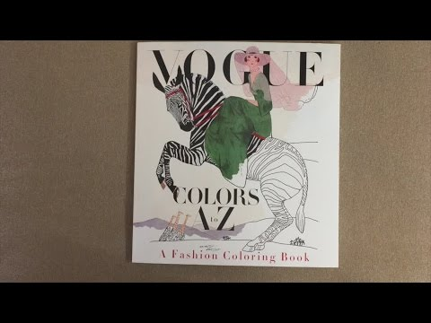 Vogue Colors A To Z Fashion Coloring Book Flip Through