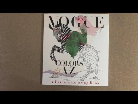 Vogue Colors A To Z Fashion Coloring Book Flip Through