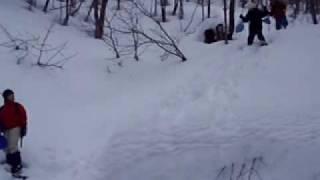 群馬水上スノーシュー:スノーシュージャンプ