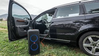 JBL PartyBox - powered by car battery