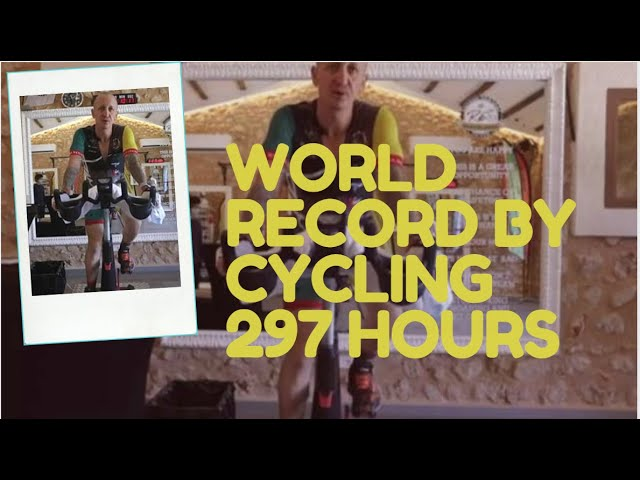 Spanish Citizen set a world record by cycling 297 hours | The World's Toughest Cycling | 9 News HD
