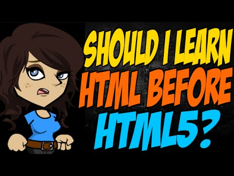 Should I Learn HTML Before HTML5?