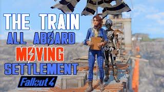 Fallout 4 - IMPRESSIVE DRIVABLE TRAIN  SETTLEMENT - The Train (Fallout 4 Mods)