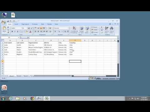 How to do Excel 2007 Mail Merge