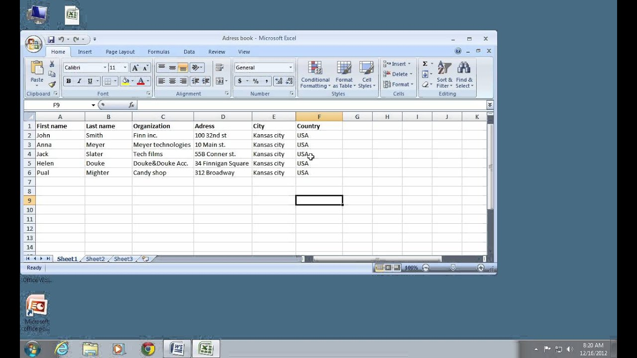 how to do excel 2007 mail merge youtube