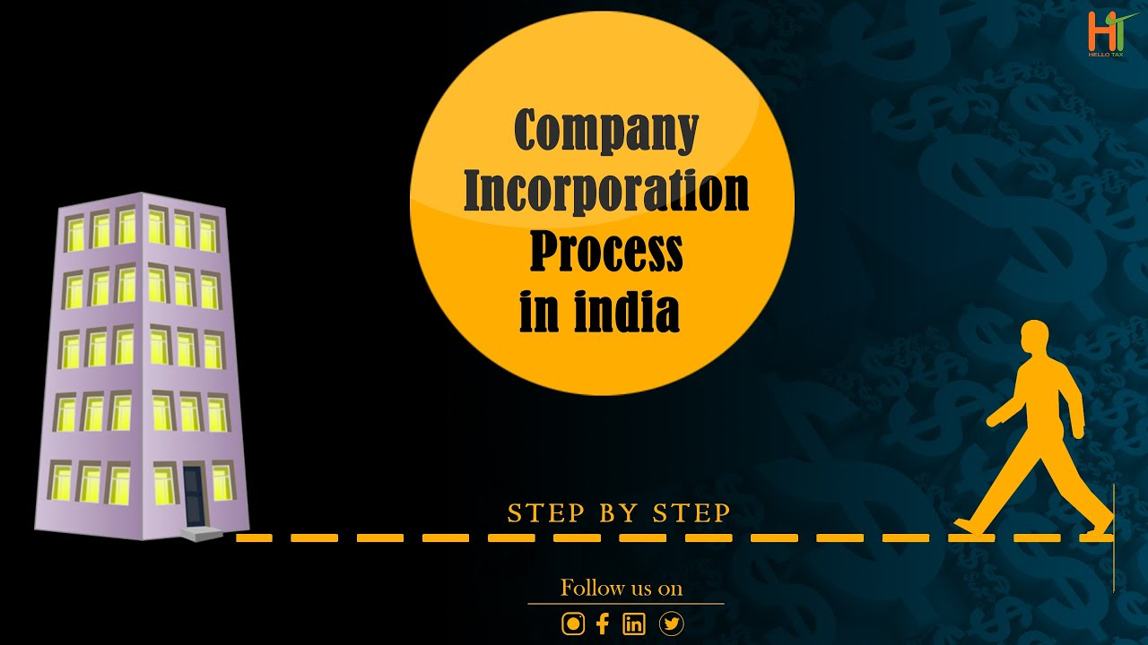 Company Incorporation Process in india step  by step I HelloTax