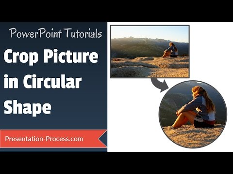 Powerpoint Crop Picture In Circular Shape Effects Series Youtube