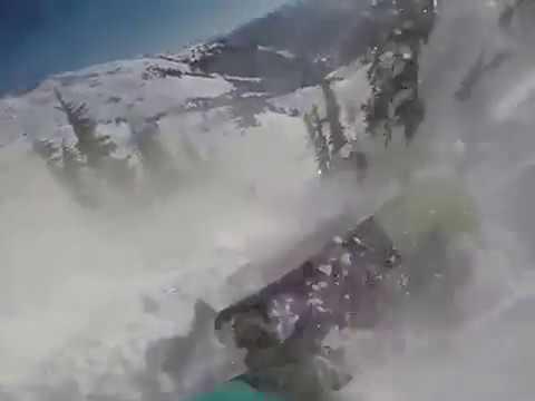 «Лавинный рюкзак спас сноубордиста»