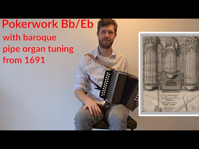 Restored Hohner Pokerwork in Bb/Eb tuned to one of  A. Werckmeister's baroque temperaments.