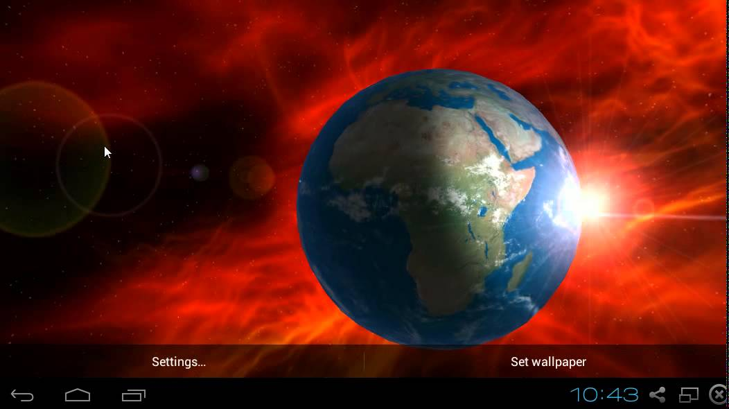 Earth 3D HD Live Wallpaper Android - YouTube