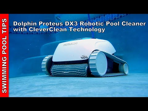 Dolphin Proteus DX3 Robotic Pool Cleaner With CleverClean Technology: Cleans Entire Pool In 2 Hours!