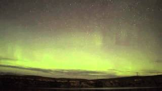 Northern Lights Above Great Falls Montana June 22, 2015