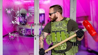 5 UNBREAKABLE Houses vs an Actual SWAT Team! - Challenge